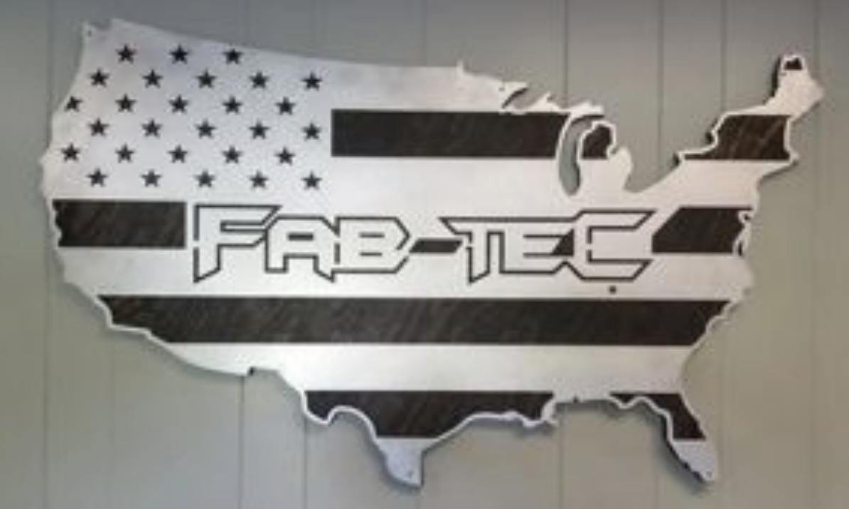 Fab-Tec American Flag Sign