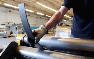 Metal Fabrication Employee Bending Steel